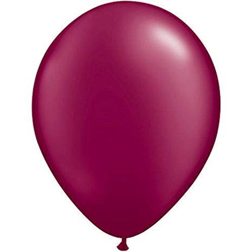 "Balão Latex Perolado Marsala 11"" UNIDADE (Qualatex)"