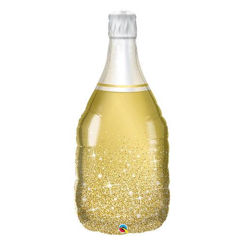 """Garrafa espumante champanhe ouro 39"""" UNIDADE (Qualatex)"""