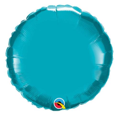 "Redondo liso Azul Tiffany 18"" UNIDADE (Qualatex)"