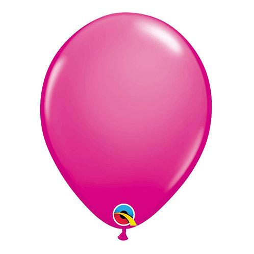 """Balão Latex Liso Pink Cereja 11"""" UNIDADE (Qualatex)"""