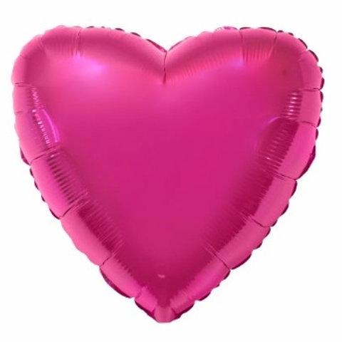"""Coração Liso Pink Rhodamine 18"""" UNIDADE (Megatoon)"""