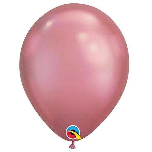 """Balão Latex Chrome Malva 11"""" UNIDADE (Qualatex)"""