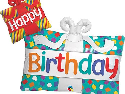 """Presentes feliz aniversário 39"""" UNIDADE (Qualatex)"""