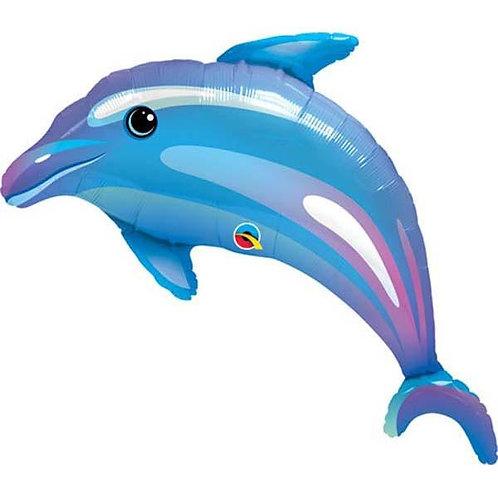 """Golfinho azul 42"""" UNIDADE (Qualatex)"""