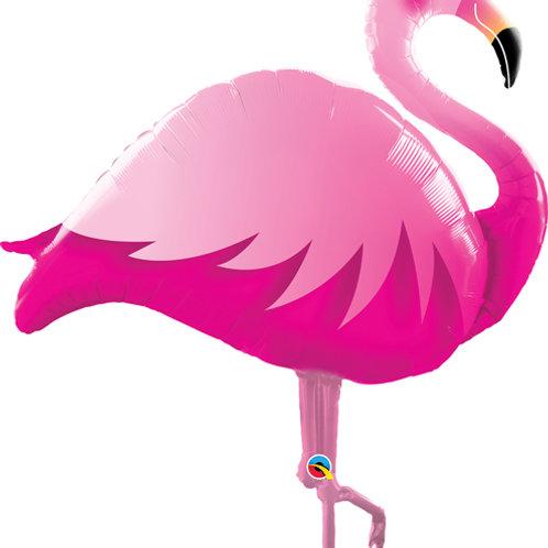 """Flamingo rosa 46"""" UNIDADE (Qualatex)"""