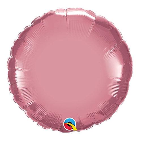 """Redondo Chrome Malva 18"""" UNIDADE (Qualatex)"""
