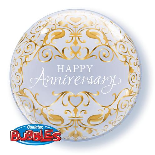 "Bubble Simples Birthday Datas Importantes 22"" UNIDADE (Qualatex)"