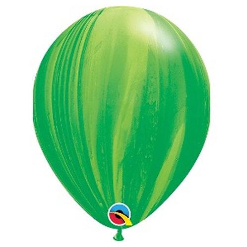 """Balão Latex Ágate Verde 11"""" UNIDADE (Qualatex)"""