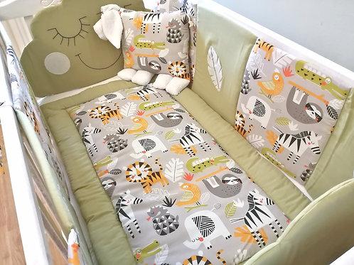 Jungle crib set