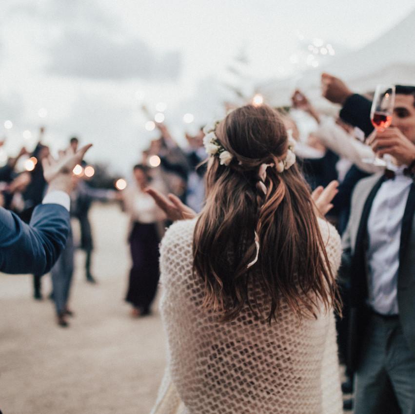 Hochzeitsreportage am Strand in Griechenland