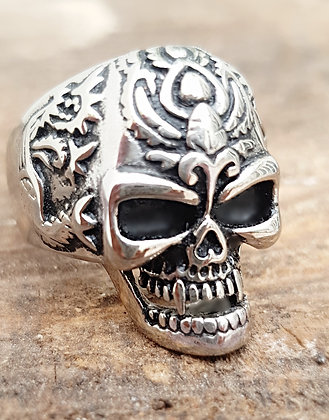 Anillo acero calavera Evil skull