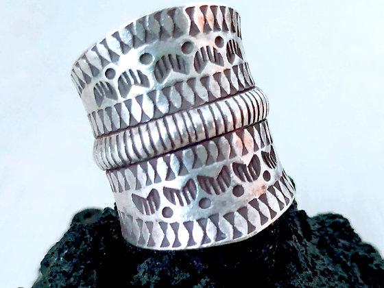 Anillo de plata étnica Uday.