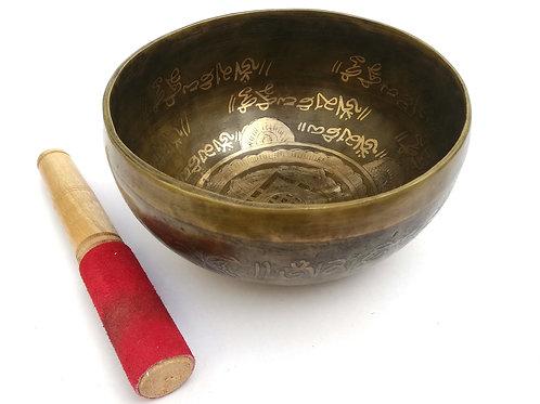 Cuenco Tibetano Bramma de 16,5cm. Siete metales, hecho a mano en Nepal.