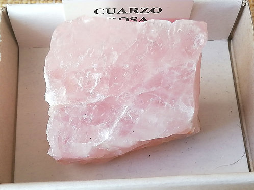 Cuarzo rosa en bruto