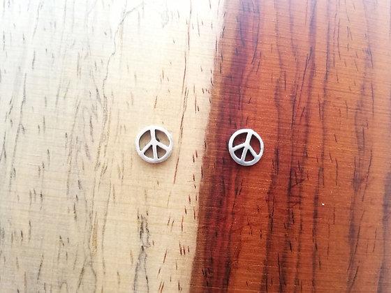 Pendientes símbolo de la paz