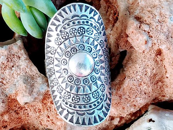 Anillo de plata étnica Ashima.