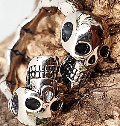 Anillo doble skull