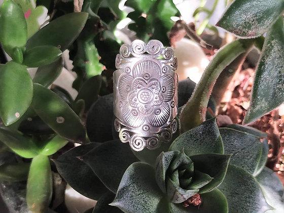 Anillo de plata étnica Kanu