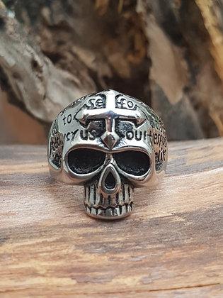 Anillo Celtic skull