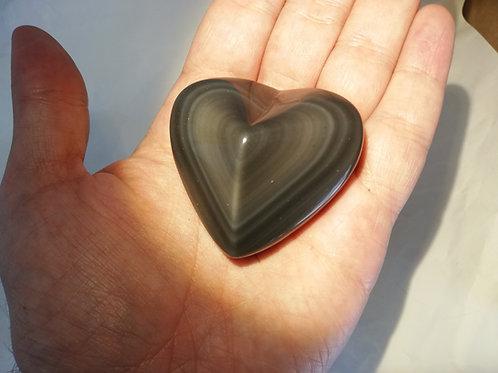 Corazón obsidiana arcoiris
