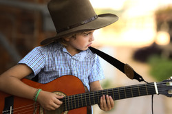 kid with guitar photo
