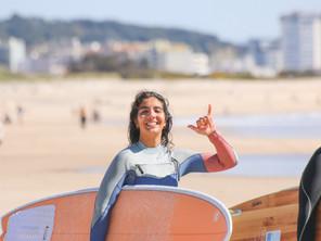 No caminho para ser a melhor professora de surf do mundo