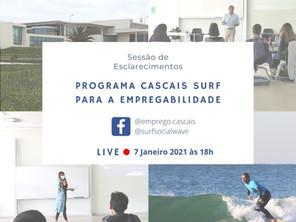Sessão de Esclarecimentos - LIVE - Programa Cascais Surf para a Empregabilidade