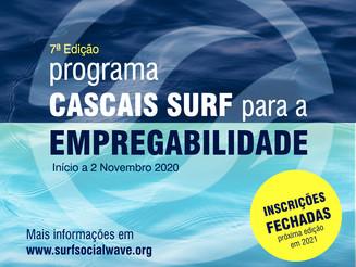 Inscrições encerradas - Programa Cascais Surf para a Empregabilidade