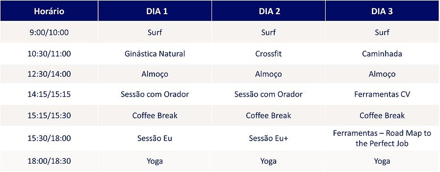 Horário - Cascais Surf + Futuro - 2021 -
