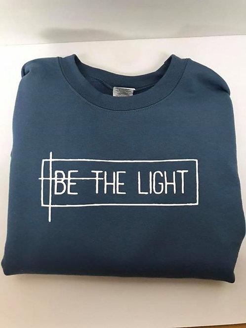 """Be the Light"" Indigo Blue Crewneck Sweatshirt"