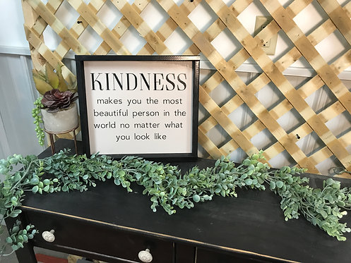 Kindness wood sign