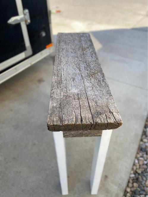 Weathered grey sofa table