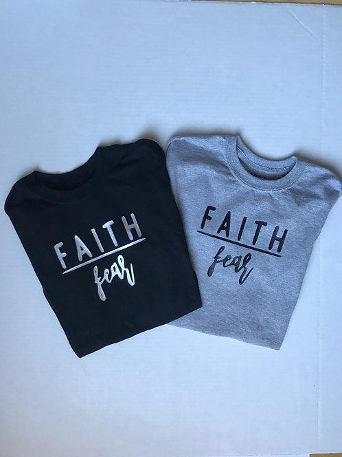 """""""Faith over fear"""" short sleeve t-shirt"""
