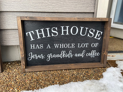 This house has a whole lot of Jesus, grandkids and coffee