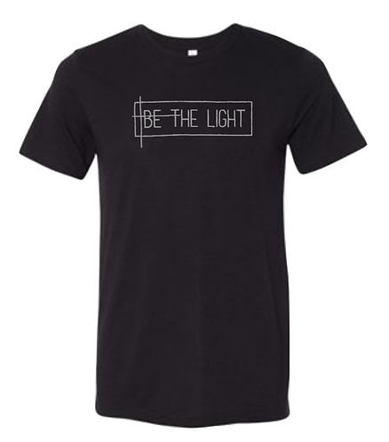 """Be the Light"" Black with silver - world map"