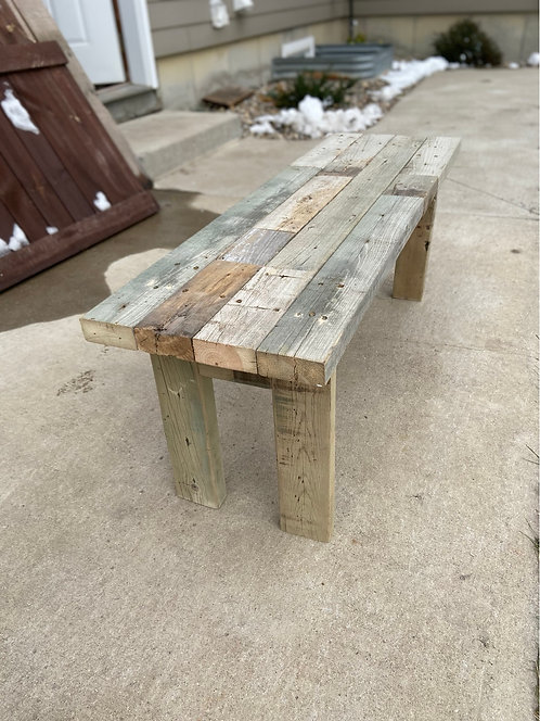 Reclaimed multicolor Bench