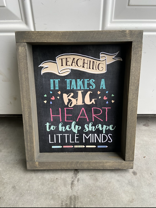 Teaching takes a big heart to shape little minds