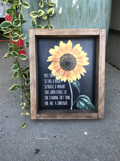 You are a sunflower sign