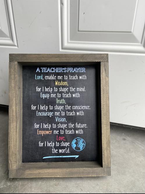 A teachers prayer