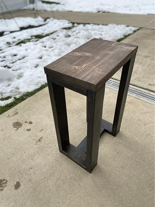 Brown too dark grey leg end table