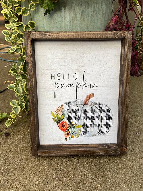 Hello, pumpkin