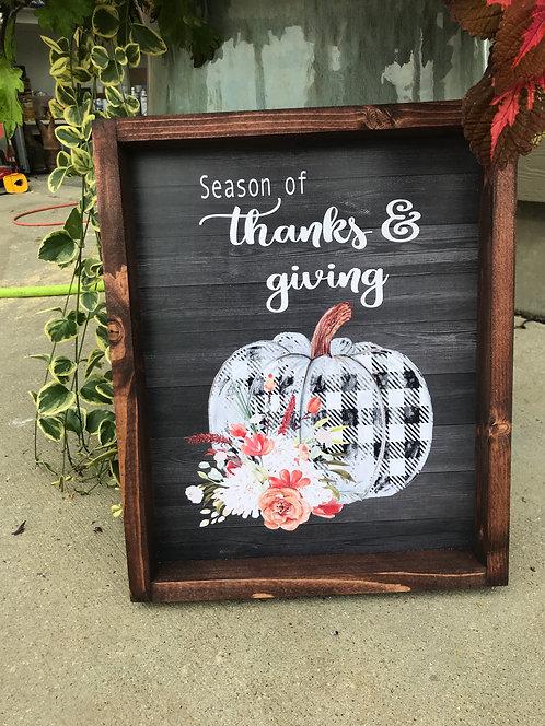 Season of thanks and giving sign