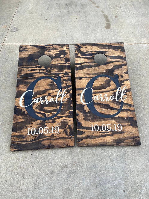 Last name cornhole board set