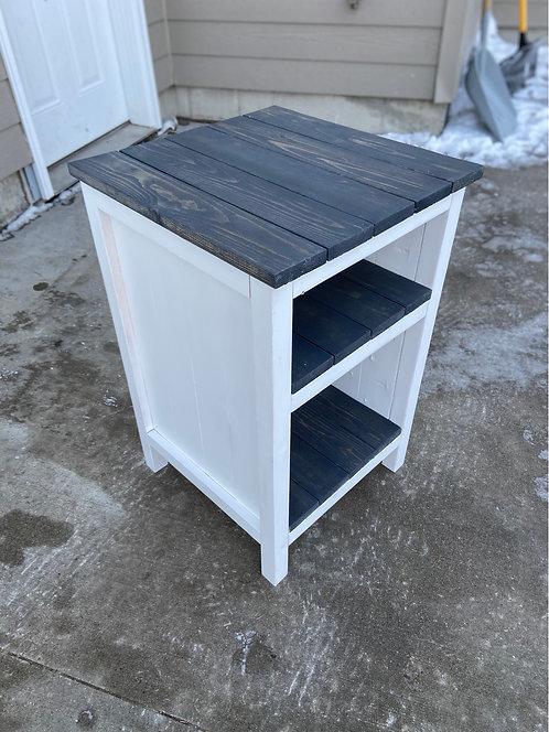 3 shelf, carbon grey, end table