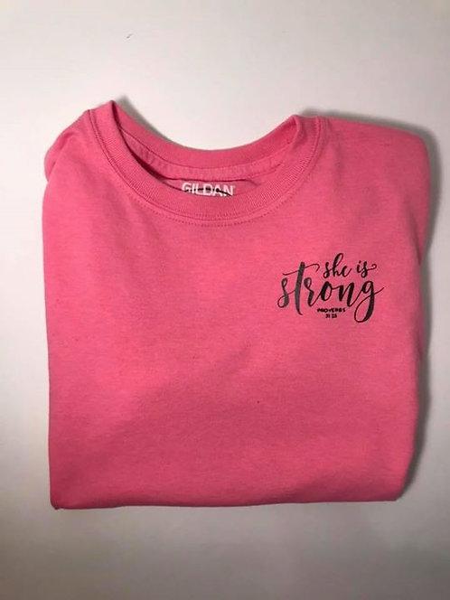 "Youth ""She is Strong"" Azalea Short Sleeve T-Shirt"