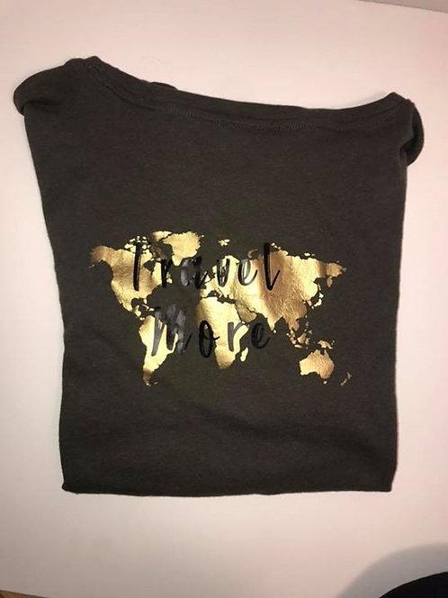 """Travel More"" Olive Short Sleeve T-Shirt"