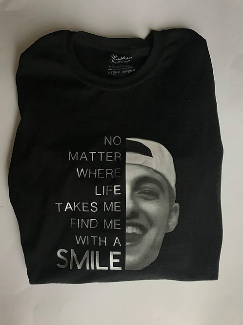 """Mac Miller"" Black with silver"
