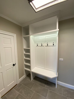 New mudroom with custom built ins