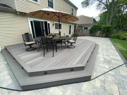 Awesome paver patio and deck combo design!