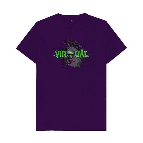 Purple GLITCH tee